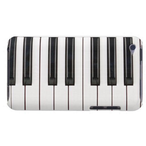 Black and White Piano Keyboard Case Cover Barely There iPod Covers