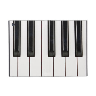 Black and White Piano Keyboard Case Cover Cover For iPad Mini