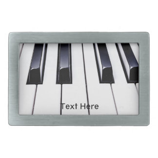 Black and White Piano Keys Belt Buckle