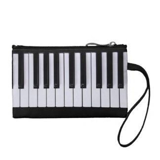 Black and White Piano Keys Clutch