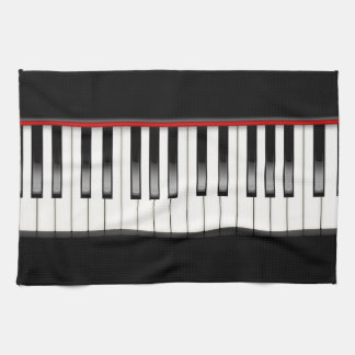 Black and White Piano Kitchen Towel