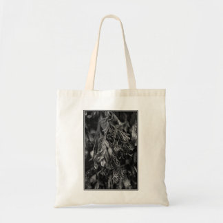 Black and White Picture of Seaweed. Canvas Bag