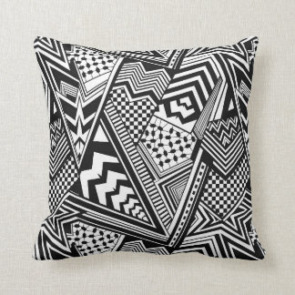 black and white pillow cushions