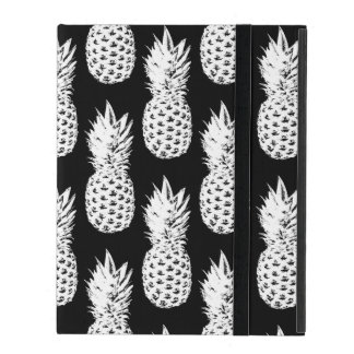 Black and white pineapple fruit pattern Ipad cover