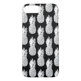 Black and white pineapple pattern iPhone 7 case