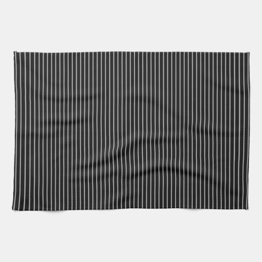 Black and White Pinstripe Tea Towel