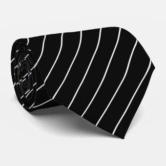 Black and White Pinstripe Tie