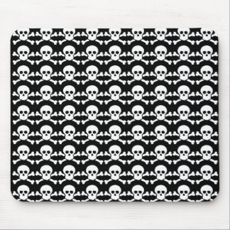 black and white pirate skull mouse pad