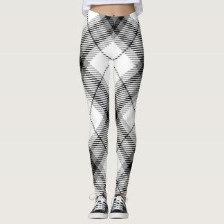 Black and White Plaid Leggings