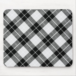 Black and White Plaid Mouse Mat