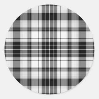 black and white plaid sticker