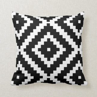 Black and white play pattern cushion