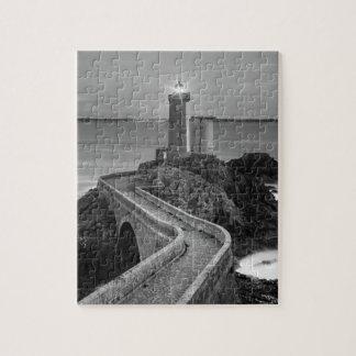 Black and White Plouzane Jigsaw Puzzle