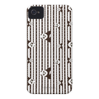 Black and White Po Pattern iPhone 4 Case
