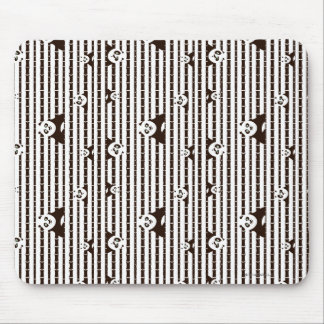 Black and White Po Pattern Mouse Mat