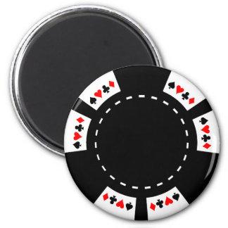 Black and White Poker Chip Magnet
