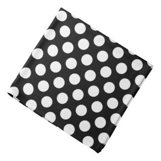 Black and White Polka Dot Bandana