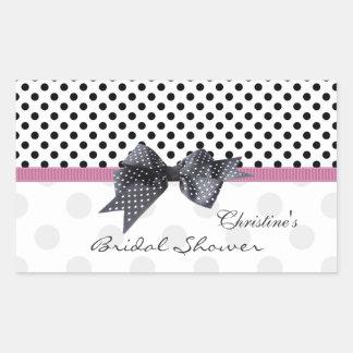 Black and white Polka dot Bridal Shower Sticker