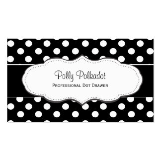 Black and White Polka Dot Business Cards