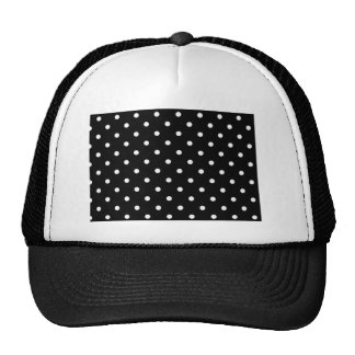 Black And White Polka Dot Cap