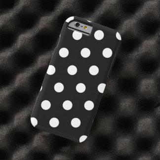Black and White Polka Dot Tough iPhone 6 Case
