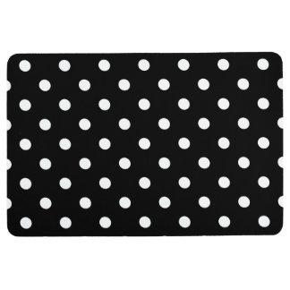 Black and White Polka Dot Floor Mat