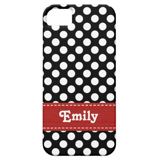 Black and White Polka Dot iPhone 5 Cases