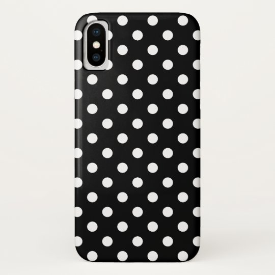 the latest 3e844 fd6ce Black and White Polka Dot iPhone X Case-Mate iPhone Case