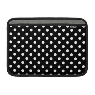 Black and White Polka Dot MacBook Sleeve