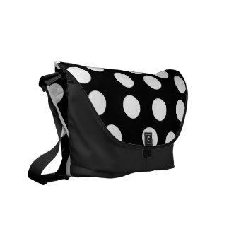 Black and White Polka Dot Messenger Bag