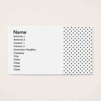 Black and White Polka Dot Pattern Business Card