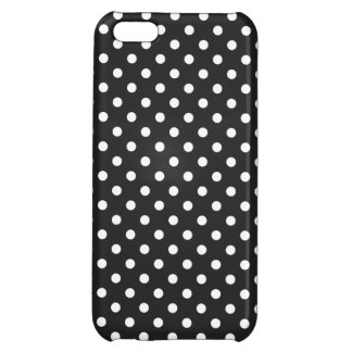 Black and White Polka Dot Pattern Case For iPhone 5C