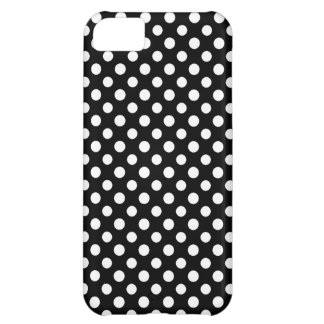 Black and White Polka Dot Pattern iPhone 5C Case