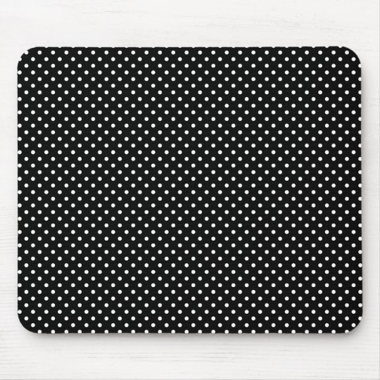 Black And White Polka Dot Pattern Mousepad