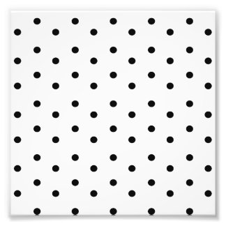 Black and White Polka dot pattern Photographic Print