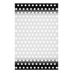 Black and White Polka Dot Pattern. Spotty. 14 Cm X 21.5 Cm Flyer