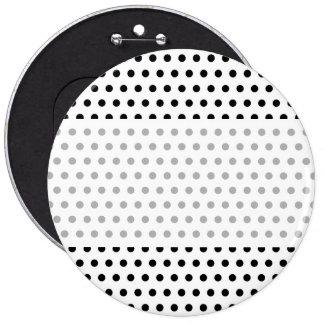Black and White Polka Dot Pattern. Spotty. 6 Cm Round Badge
