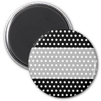 Black and White Polka Dot Pattern. Spotty. 6 Cm Round Magnet