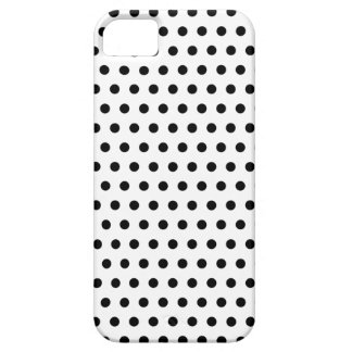 Black and White Polka Dot Pattern. Spotty. Barely There iPhone 5 Case