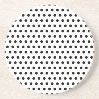 Black and White Polka Dot Pattern. Spotty. Beverage Coasters