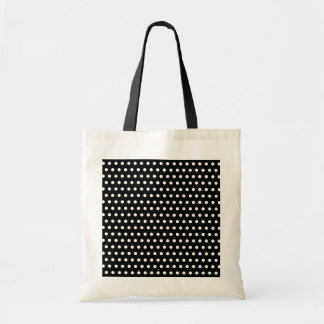 Black and White Polka Dot Pattern. Spotty. Budget Tote Bag