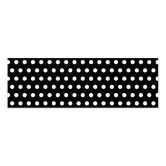 Black and White Polka Dot Pattern Spotty Business Card