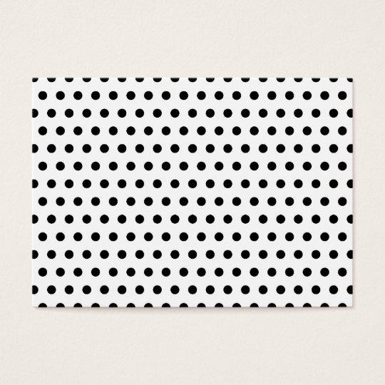 Black and White Polka Dot Pattern. Spotty. Business