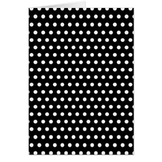 Black and White Polka Dot Pattern. Spotty. Card