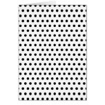 Black and White Polka Dot Pattern. Spotty. Greeting Cards