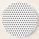 Black and White Polka Dot Pattern. Spotty. Beverage Coasters