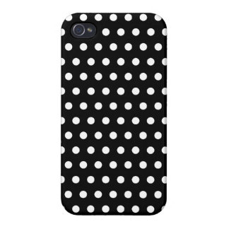 Black and White Polka Dot Pattern. Spotty. Cover For iPhone 4