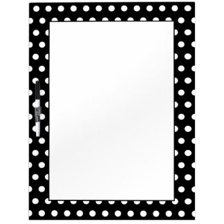 Black and White Polka Dot Pattern. Spotty. Dry Erase Board