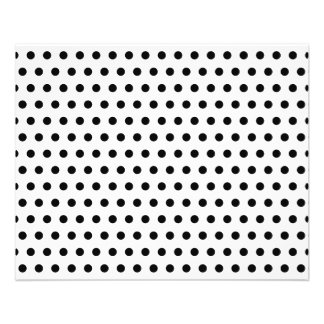 Black and White Polka Dot Pattern. Spotty. Flyer