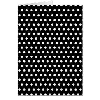 Black and White Polka Dot Pattern. Spotty. Greeting Card